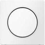 Изображение Q.1/Q.3 Накладка для поворотн. диммеров и потенциометров, белый бархат Berker