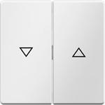 Изображение Q.1/Q.3 Клавиша 2-ная со стрелками вверх/вниз, белый бархат Berker