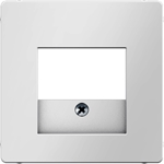 Изображение Q.1/Q.3 Накладка TAE/USB, белый бархат Berker