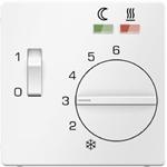 Изображение Q.1/Q.3 Накладка для терморегулятора арт. № 203400, белый бархат Berker