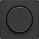 Изображение Q.1/Q.3 Накладка для поворотн. диммеров и потенциометров, черный бархат Berker