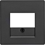 Изображение Q.1/Q.3 Накладка TAE/USB, черный бархат Berker