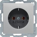Изображение Q. Розетка 2К+З 16 А, 250 В~, алюминий бархатный Berker