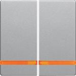 Изображение Q. Клавиши с оранжевой линзой, алюминий бархатный Berker