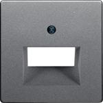 Изображение Q. Накладка 2-ная для комп./тлф. розетки 2хRJ45, алюминий бархатный Berker