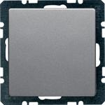 Изображение Q. Заглушка с центральной панелью, алюминий бархатный Berker