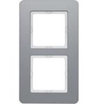 Изображение Q.7 Рамкa 2-местная, алюминий бархатный Berker