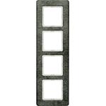 Изображение Q.7 Рамкa 4-местная вертикальная, нержавеющая сталь Berker