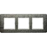 Изображение Q.7 Рамкa 3-местная горизонтальная, нержавеющая сталь Berker