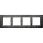 Изображение Q.7 Рамкa 4-местная горизонтальная, нержавеющая сталь Berker