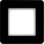 Изображение Q.7 Рамкa 1-местная, стекло, черный Berker