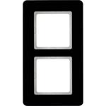 Изображение Q.7 Рамкa 2-местная, стекло, черный Berker