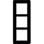 Изображение Q.7 Рамкa 3-местная, стекло, черный Berker