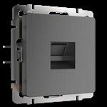 Изображение Розетка Ethernet RJ-45 (графит рифленый)