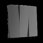 Изображение Набор клавиш для выключателя трехклавишного (графит рифленый)