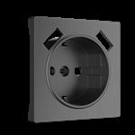 Изображение Накладка для розетки USB (графит рифленый)