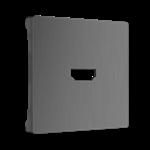 Изображение Накладка для розетки HDMI (графит рифленый)