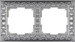 Изображение Рамка на 2 поста (матовый хром)