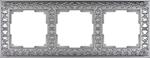 Изображение Рамка на 3 поста (матовый хром)