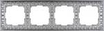 Изображение Рамка на 4 поста (матовый хром)
