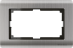 Изображение Рамка для двойной розетки (глянцевый никель)