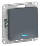 Изображение SE AtlasDesign Грифель Переключатель 1-клавишный с подсветкой, сх.6а, 10АХ, механизм