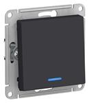 Изображение SE AtlasDesign Карбон Переключатель 1-клавишный с подсветкой, сх.6а, 10АХ, механизм