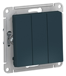 Изображение SE AtlasDesign Изумруд Выключатель 3-клавишный сх.1+1+1, 10АХ, механизм