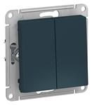 Изображение SE AtlasDesign Изумруд Выключатель 2-клавишный сх.5, 10АХ, механизм