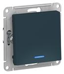 Изображение SE AtlasDesign Изумруд Переключатель 1-клавишный с подсветкой, сх.6а, 10АХ, механизм