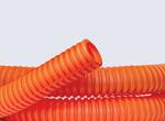 Изображение DKC Труба гофрированная ПНД легкая с протяжкой D=16mm (100m) оранжевая