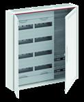 Изображение ABB Шкаф 120М навесной с медиапанелями IP30, 800x800x160 между DIN-рейками 125 мм и самозажимными клеммами N/PE и дверью с вент. отверстиями CA35VML