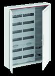 Изображение ABB Шкаф 144М навесной с медиапанелями IP30, 950x800x160 между DIN-рейками 125 мм и самозажимными клеммами N/PE и дверью с вент. отверстиями CA36VML