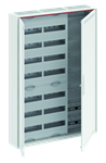 Изображение ABB Шкаф 168М навесной с медиапанелями IP30, 1100x800x160 между DIN-рейками 125 мм и самозажимными клеммами N/PE и дверью с вент. отверстиями CA37VML