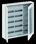 Изображение ABB Шкаф 120М навесной с медиапанелями IP30, 800x800x160 между DIN-рейками 125 мм и самозажимными клеммами N/PE и Wi-Fi дверью с вент. отверстиями CA3