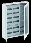 Изображение ABB Шкаф 144М навесной с медиапанелями IP30, 950x800x160 между DIN-рейками 125 мм и самозажимными клеммами N/PE и Wi-Fi дверью с вент. отверстиями CA3
