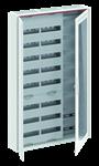 Изображение ABB Шкаф 192М навесной с медиапанелями IP30, 1250x800x160 между DIN-рейками 125 мм и самозажимными клеммами N/PE и Wi-Fi дверью с вент. отверстиями CA