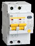 Изображение IEK Дифференциальный автоматический выключатель АД12 2Р 10А 30мА
