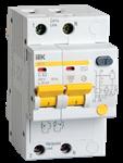 Изображение IEK Дифференциальный автоматический выключатель АД12 2Р 25А 30мА