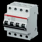 Изображение ABB S204 C25 Автоматический выключатель 4P 25А (С) 6kA