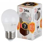 Изображение Лампа светодиодная P45-7W-827-E27 ЭРА (диод, шар, 7Вт, тепл, E27)