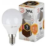 Изображение Лампа светодиодная P45-7W-827-E14 ЭРА (диод, шар, 7Вт, тепл, E14)