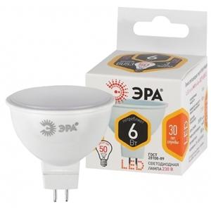 Изображение Лампа светодиодная MR16-6W-827-GU5.3 ЭРА (диод, софит, 6Вт, тепл, GU5.3)