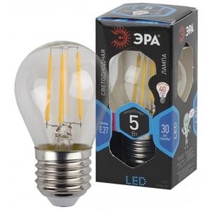 Изображение Лампа светодиодная F-LED P45-5W-840-E27 ЭРА (филамент, шар, 5Вт, нейтр, E27)