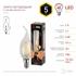Изображение Лампа светодиодная F-LED BXS-5W-827-E14 ЭРА (филамент, свеча на ветру, 5Вт, тепл, E14)