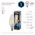 Изображение Лампа светодиодная F-LED B35-5W-840-E14 ЭРА (филамент, свеча, 5Вт, нейтр, E14)