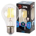 Изображение Лампа светодиодная F-LED A60-9W-840-E27 ЭРА (филамент, груша, 9Вт, нейтр., Е27)