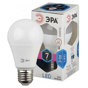 Изображение Лампа светодиодная A55-7W-840-E27 ЭРА (диод, груша, 7Вт, нейтр, E27)